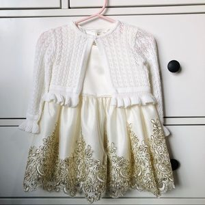 Size 18 month baby lace dress with cardigan set